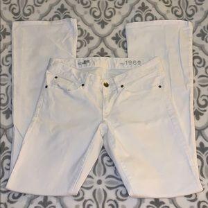 Gap 1969 white flare jeans - curvy cut